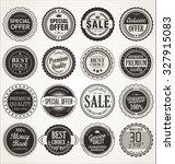 premium  quality retro vintage... | Shutterstock .eps vector #327915083