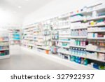 products arranged in shelves at ... | Shutterstock . vector #327922937