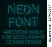 neon lights alphabet. vector. | Shutterstock .eps vector #327930827