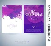 vector christmas watercolor... | Shutterstock .eps vector #327967103