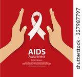 aids awareness concept. vector... | Shutterstock .eps vector #327987797