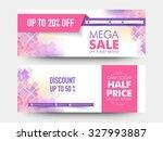 creative stylish mega sale... | Shutterstock .eps vector #327993887