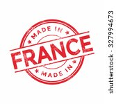 made in france red vector... | Shutterstock .eps vector #327994673