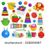 Set Of Plastic Toys  Pyramid ...