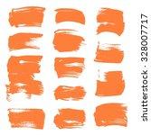 orange textured dry paint short ... | Shutterstock .eps vector #328007717