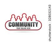 cool community icon logo   Shutterstock .eps vector #328032143