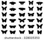 black silhouettes of... | Shutterstock .eps vector #328035353