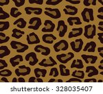 seamless leopard skin texture ... | Shutterstock .eps vector #328035407