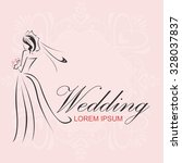 wedding logo | Shutterstock .eps vector #328037837