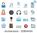 a set of modern icon... | Shutterstock .eps vector #32804434