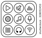 music icons. set of simple and...