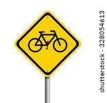 bike sign on white background | Shutterstock . vector #328054613