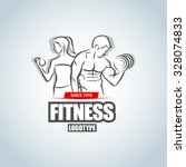 Man And Woman Fitness Logo...