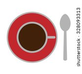 vector icon. stylized cup of... | Shutterstock .eps vector #328093313