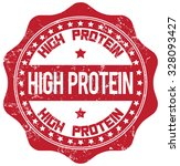 high protein stamp | Shutterstock .eps vector #328093427