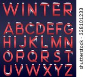 raster winter alphabet. red...   Shutterstock . vector #328101233