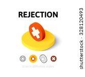 rejection icon  vector symbol...