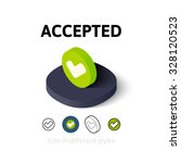 accepted icon  vector symbol in ...