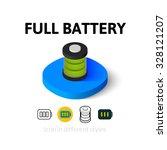 full battery icon  vector...