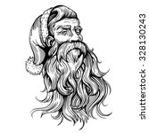 vector black and white santa... | Shutterstock .eps vector #328130243