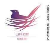 logo with a bird in a nest | Shutterstock .eps vector #328140893