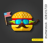 cheeseburger icon flat icon... | Shutterstock .eps vector #328151723