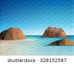 triangular scene background... | Shutterstock .eps vector #328152587