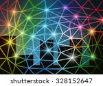 abstract network background... | Shutterstock .eps vector #328152647