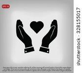 heart in hand icon | Shutterstock .eps vector #328155017