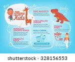 menu for kids template. | Shutterstock .eps vector #328156553