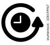 restore clock vector icon.... | Shutterstock .eps vector #328159967