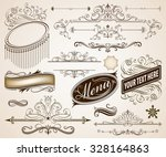 set of calligraphic frames and... | Shutterstock .eps vector #328164863