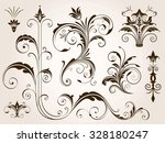 various ornate scroll design...