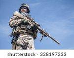 member of navy seal team with...   Shutterstock . vector #328197233