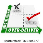 under promise and over deliver... | Shutterstock . vector #328206677