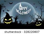happy halloween background ... | Shutterstock .eps vector #328220807