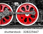 Red Train Wheels