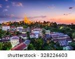 Yangon  Myanmar Skyline With...