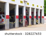 automobile repair garage with... | Shutterstock . vector #328227653