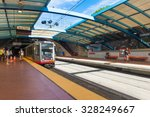 muni train in the station on... | Shutterstock . vector #328249667