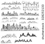 cityscape vector illustration... | Shutterstock .eps vector #328252133