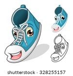shoes mascot cartoon character... | Shutterstock .eps vector #328255157