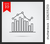 icon of bar chart with line