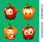 facial expression on bell... | Shutterstock .eps vector #328258373
