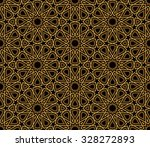 arabesque black   gold pattern  ... | Shutterstock .eps vector #328272893