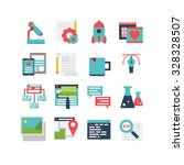 an icon set for web development ... | Shutterstock .eps vector #328328507