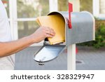 close up of person removing... | Shutterstock . vector #328329947