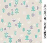 seamless pattern flat christmas ... | Shutterstock .eps vector #328333943
