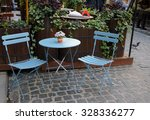 round table and two chairs | Shutterstock . vector #328336277