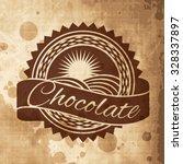 vintage vector logo template of ... | Shutterstock .eps vector #328337897